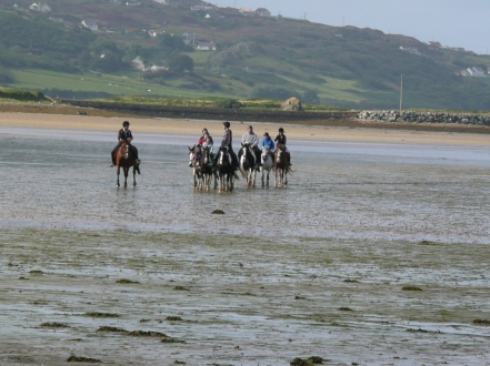 Horse riding at Carrigart, Downings