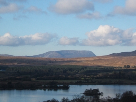 Muckish mountain in Summer and Winter